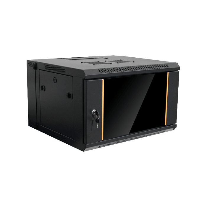 WMZ655-SFH40, 6U, 550mm Depth, Swing-out Wallmount Server Cabinet with 2U Supporting Tray