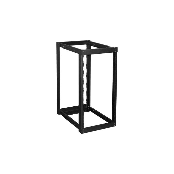 WOR2211-SFH25, 22U, 1100mm, Adjustable Open-frame Server Rack with 1U Supporting Tray