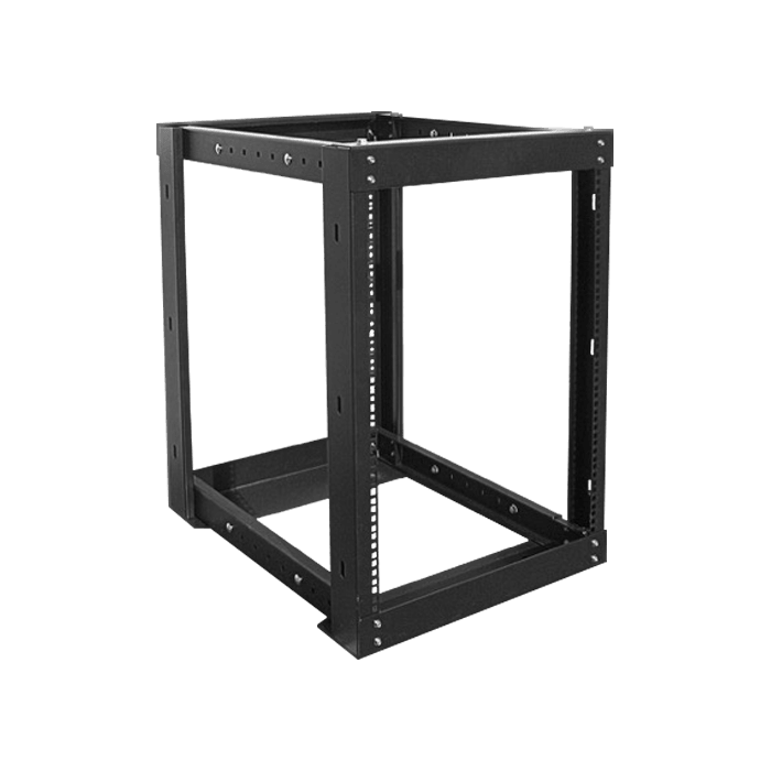 WOR1511-DWR4U, 15U, 1100mm, Adjustable Open-frame Server Rack with 4U Drawer