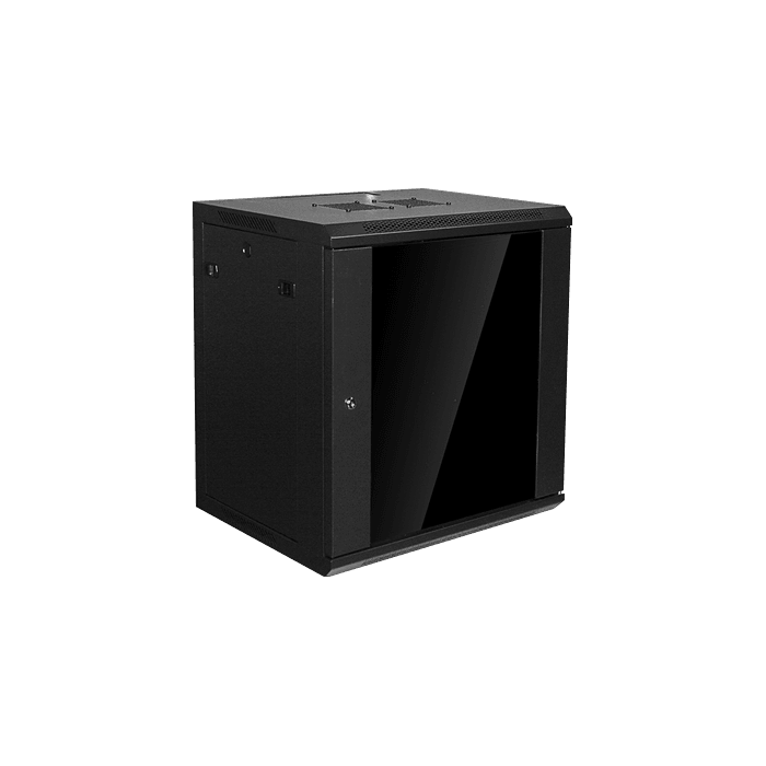WM1245-P1U, 12U, 450mm Depth, Wallmount Server Cabinet with 1U Cover Plate