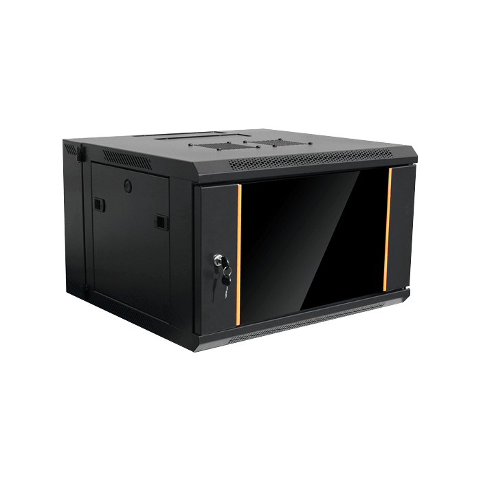 WMZ655-P1U, 6U, 550mm Depth, Swing-out Wallmount Server Cabinet with 1U Cover Plate