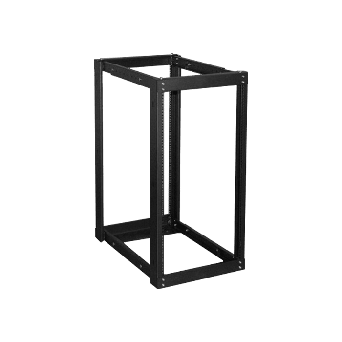 WOR2211-DWR4U, 22U, 1100mm, Adjustable Open-frame Server Rack with 4U Drawer