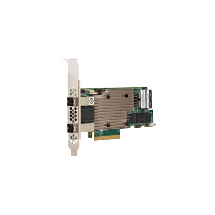 MegaRAID 9480-8i8e, SATA/SAS/PCIe (NVMe) 12Gb/s, 16-Port, PCIe 3.1 x8, Controller with 4GB Cache
