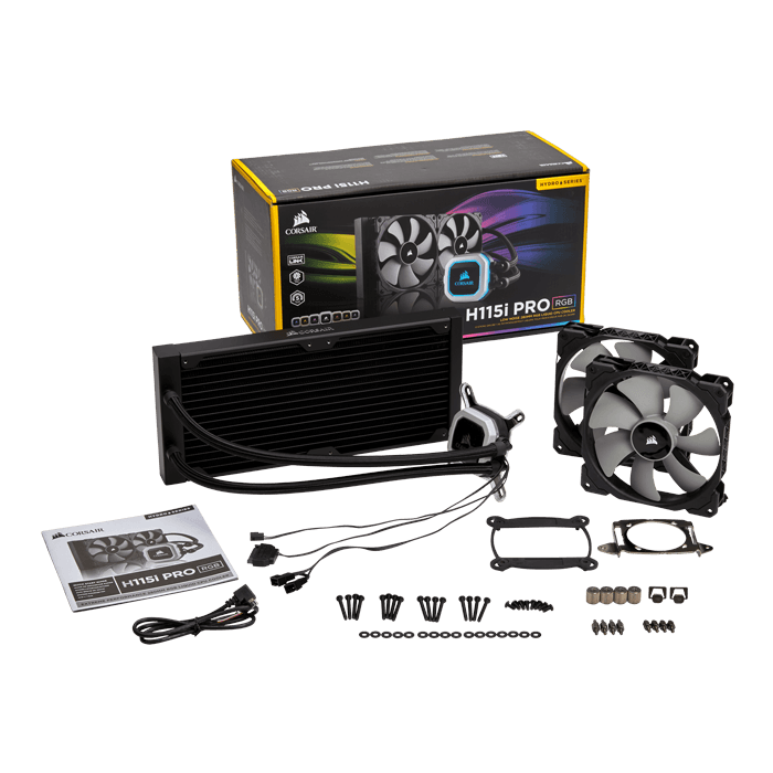 Hydro H115i PRO RGB, 280mm Radiator, Liquid Cooling System