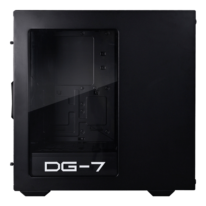 DG-7 Series DG-73 w/ Acrylic Window, No PSU, ATX, Black, Mid Tower Case