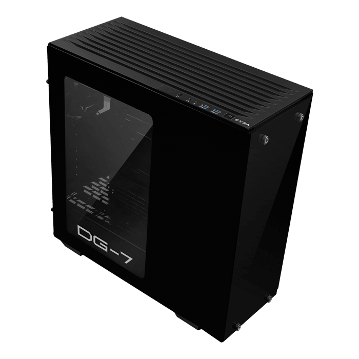 DG-7 Series DG-73 Acrylic Window, No PSU, ATX, Black, Mid Tower Case