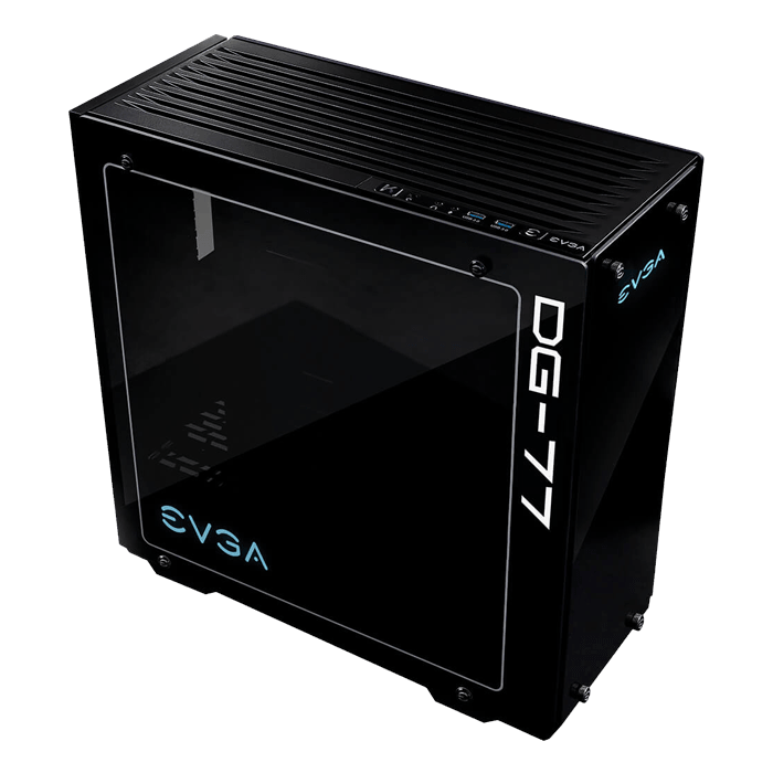 DG-7 Series DG-77 Tempered Glass, w/ RGB LED and Control Board, K-Boost, No PSU, ATX, Black, Mid Tower Case
