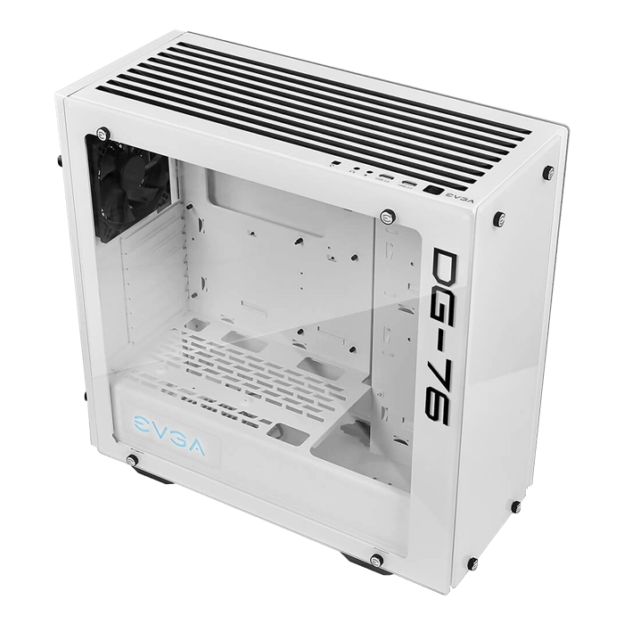 DG-7 Series DG-76 Tempered Glass, w/ RGB LED and Control Board, No PSU, ATX, White, Mid Tower Case