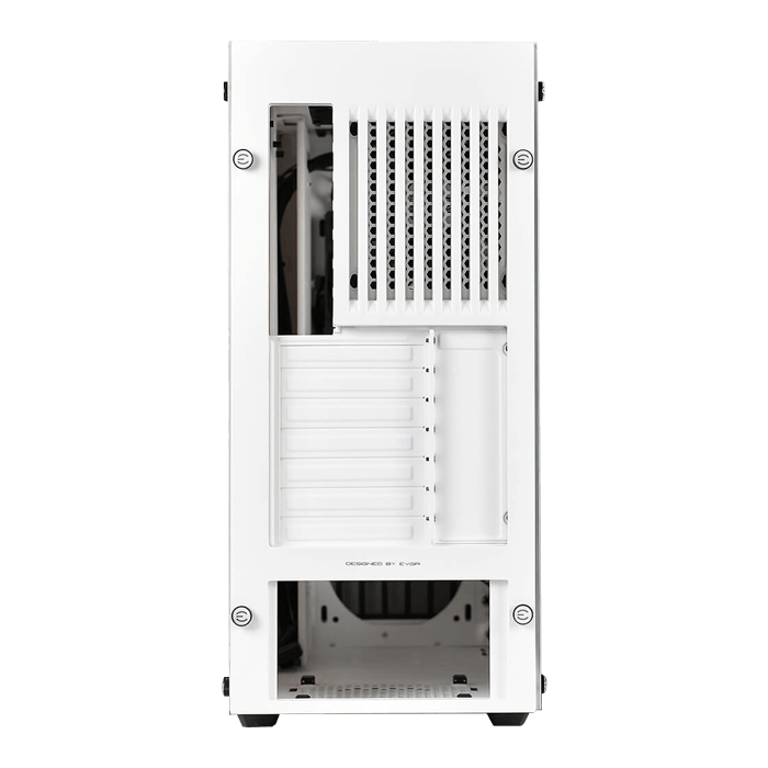 DG-7 Series DG-77 Tempered Glass, w/ RGB LED and Control Board, K-Boost, No PSU, ATX, White, Mid Tower Case