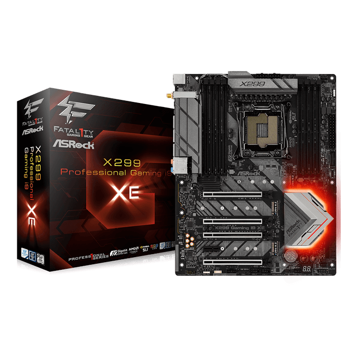 Fatal1ty X299 Professional Gaming i9 XE, Intel X299 Chipset, LGA 2066, ATX Motherboard