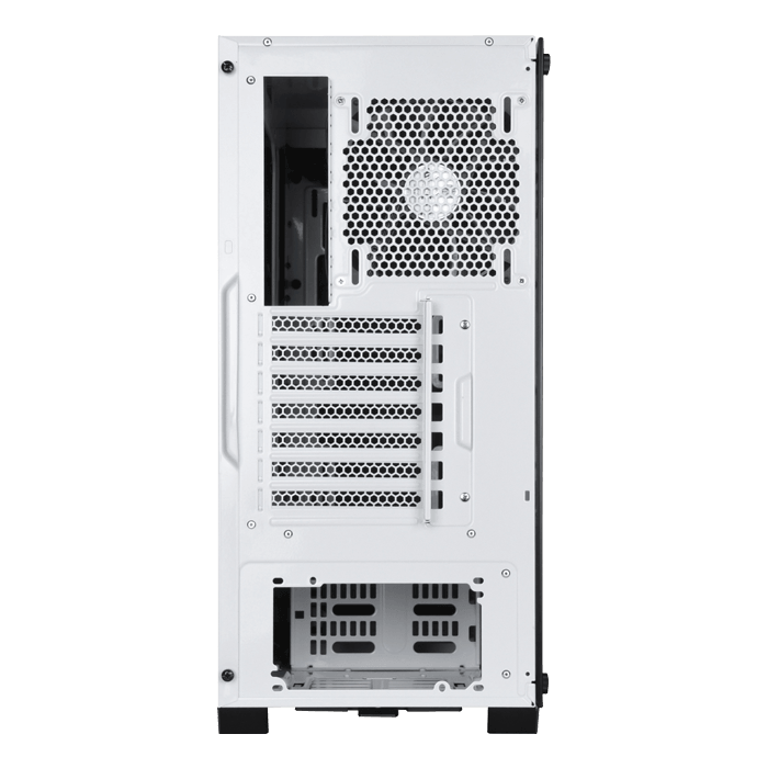 Redline Series SST-RL07W-G Tempered Glass, No PSU, ATX, White, Mid Tower Case