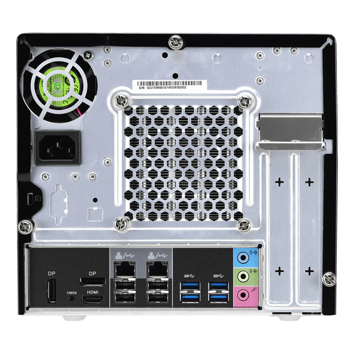 SZ270R9 Black Mini PC Barebone, Intel® Core i3 / i5 / i7, Intel® Z270, DDR4-2400 DIMM 64GB / 4, SATA / 4, USB 3.0 / 6, USB 2.0 / 4, DP / 2, HDMI, GbLAN, 500W PSU
