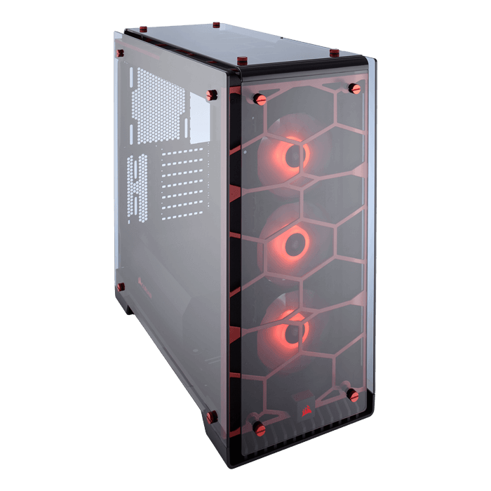 Crystal Series 570X RGB Tempered Glass, No PSU, ATX, Red, Mid Tower Case