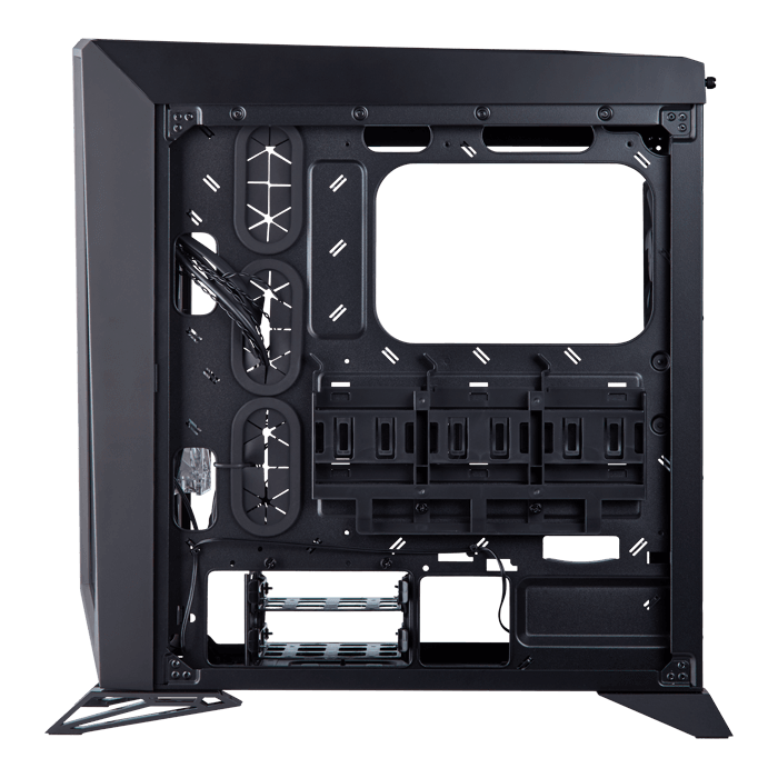 Carbide Series SPEC-OMEGA Tempered Glass, No PSU, ATX, Black/Red, Mid Tower Case