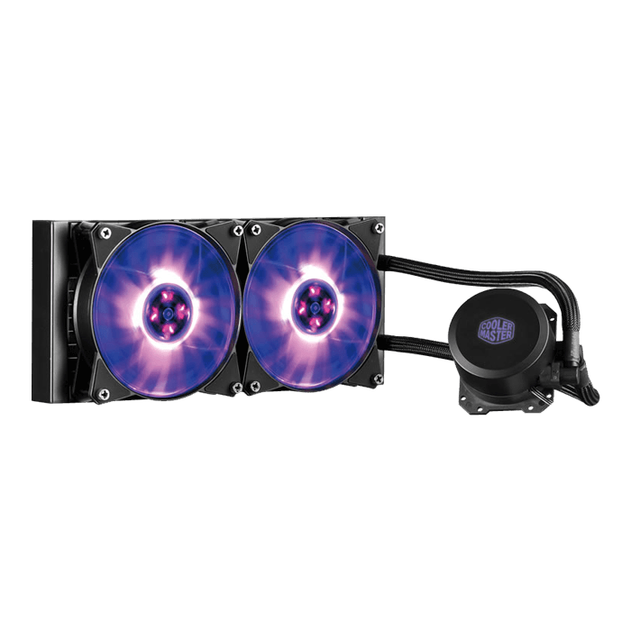 MasterLiquid ML240L RGB, 120mm Radiator, 210W TDP, Liquid Cooling System