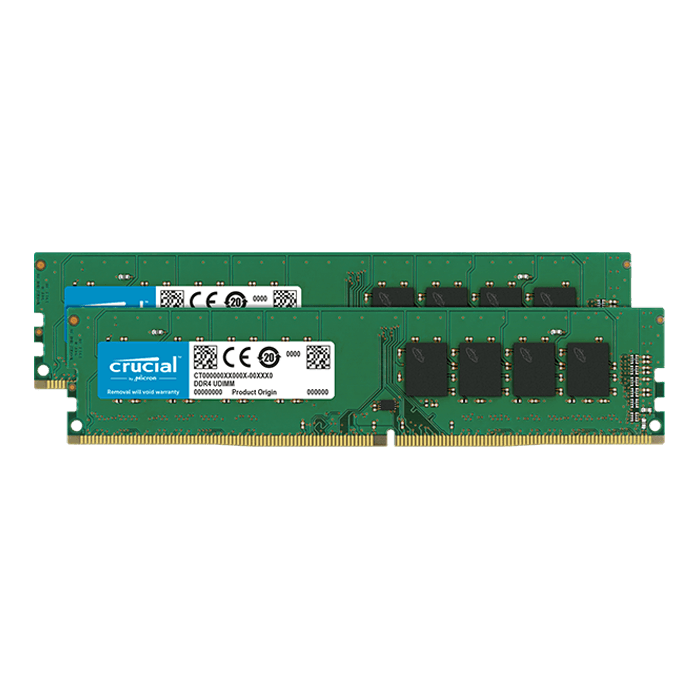 32GB Kit (2 x 16GB) Dual-Rank DDR4 2666MHz, CL19, DIMM Memory
