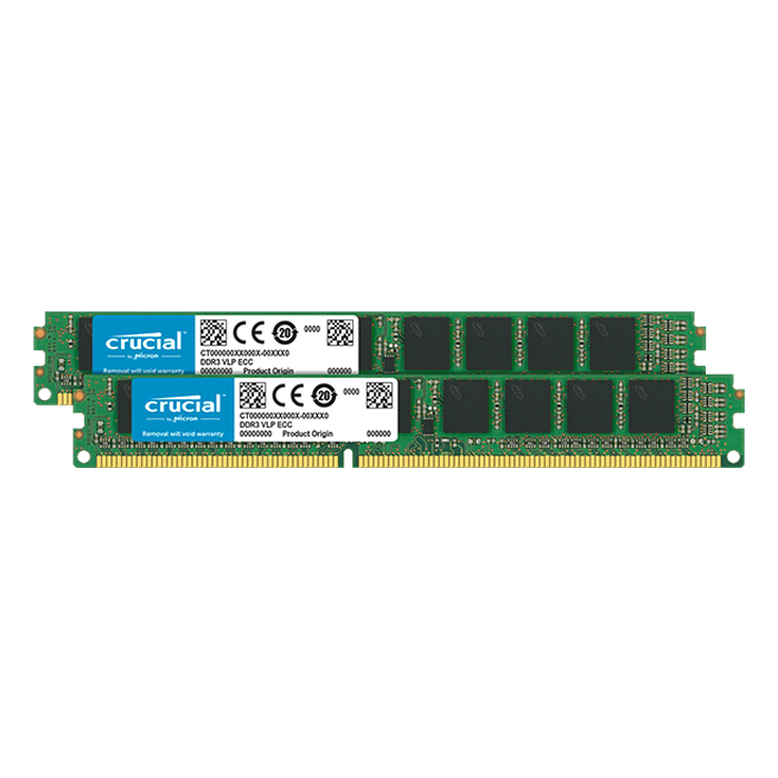 64GB (4 x 16GB) Dual-Rank, DDR4 2400MHz, CL17, ECC Unbuffered VLP Memory