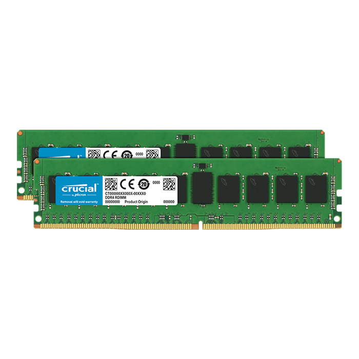 16GB (2 x 8GB) Dual-Rank, DDR4 2666MHz, CL19, ECC Unbuffered Memory