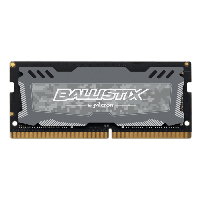 4GB Ballistix Sport LT DDR4 2666MHz, CL16, Grey, SO-DIMM Memory