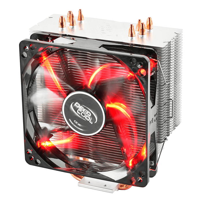 GAMMAXX 400 RED, 154.5mm Height, 130W TDP, Copper/Aluminum CPU Cooler