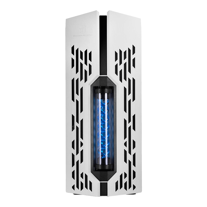 GENOME II WH-BL w/ Integrated 360mm Liquid Cooling System, No PSU, E-ATX, White/Blue Full Tower Case