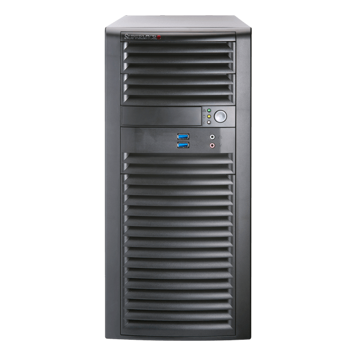 SuperWorkstation 5039A-i, Mid Tower, Intel C422, 4x SATA, 8x DDR4, Dual 1Gb Ethernet, 900W PSU