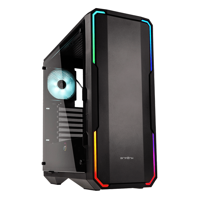Enso Tempered Glass, No PSU, E-ATX, Black, Mid Tower Case