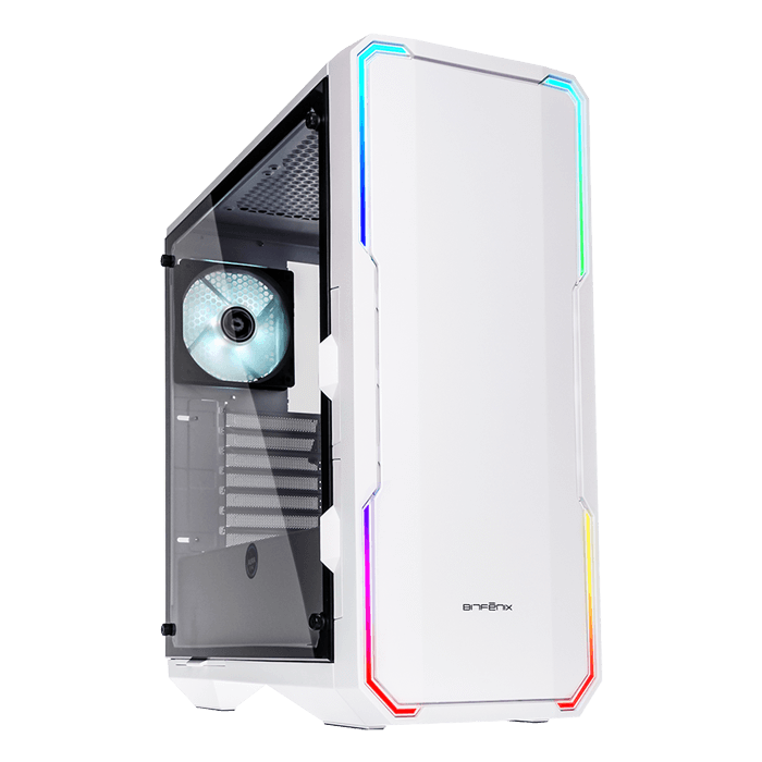Enso Tempered Glass, No PSU, E-ATX, White, Mid Tower Case