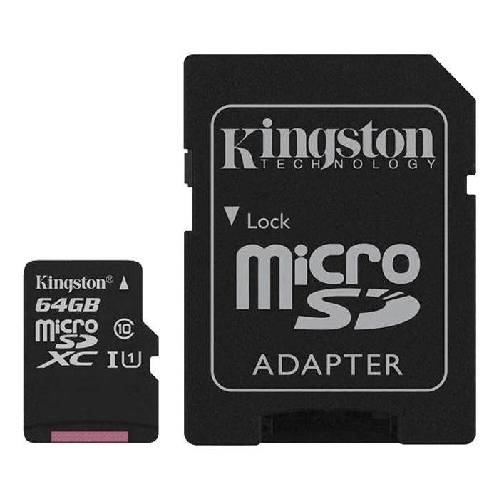 64GB Canvas Select UHS-I microSDXC Memory Card with SD Adapter
