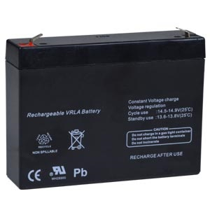 Replacement Back-up Battery for E-16D (non-UL model dated 4/6/20 or earlier), E-16DEL, E-16DDP, E-16D-24V(DP), E-16D-48V(DP)