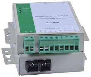 RS485/RS232/RS422 to Fiber Converter/Extender