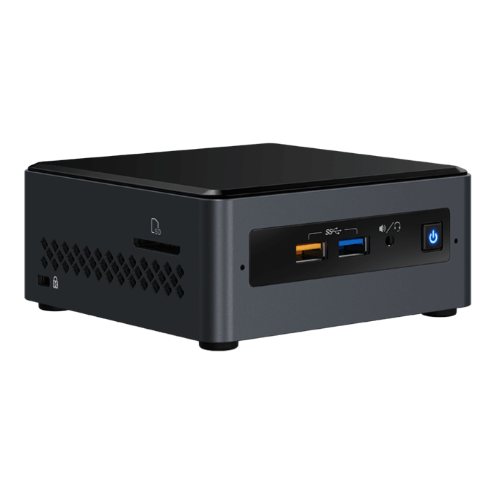 "NUC7CJYH, Intel Celeron J4005, 2x DDR4 SO-DIMM, 2.5"" HDD/SSD, Intel HD Graphics 600, Mini PC Barebone"