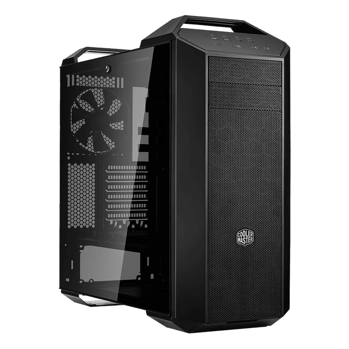 MasterCase Series MC500 Tempered Glass, No PSU, E-ATX, Black/Grey, Mid Tower Case