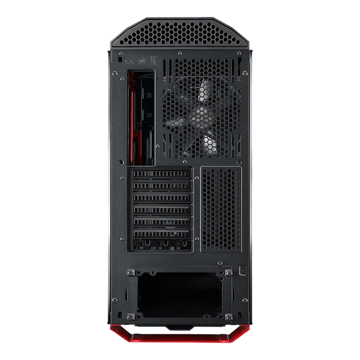 MasterCase Series MC500Mt Tempered Glass, No PSU, E-ATX, Black/Red, Mid Tower Case
