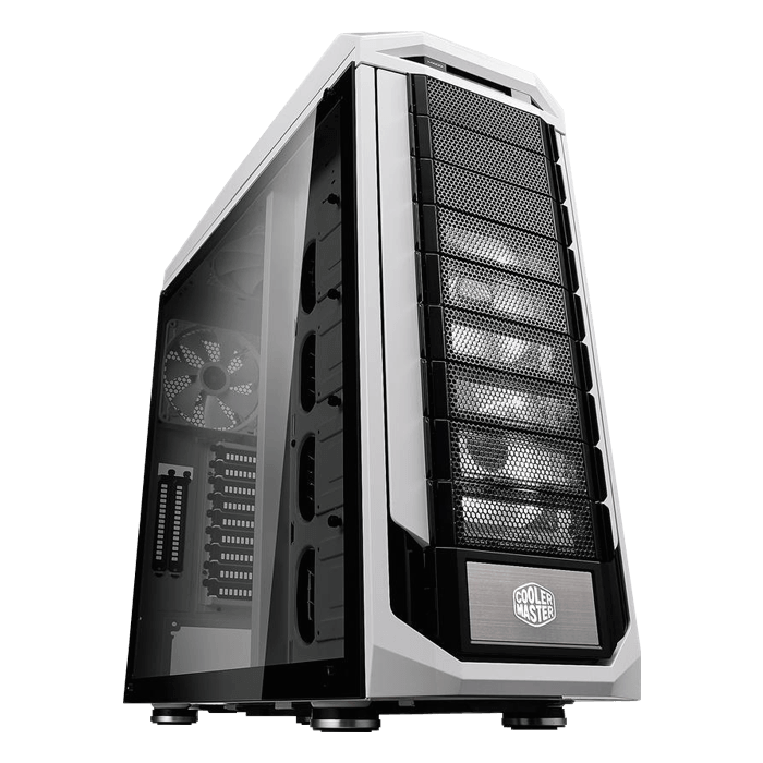 Stryker SE Tempered Glass, No PSU, E-ATX, White/Black, Full Tower Case