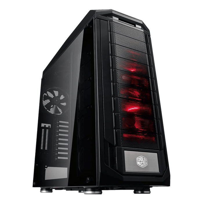 Trooper SE Tempered Glass, No PSU, E-ATX, Black, Full Tower Case