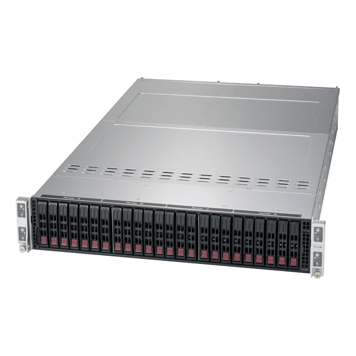 SuperServer 6029TP-HC0R, 2U Twin2, Intel C621, 12x SAS, 64x DDR4, 2200W Rdt PSU