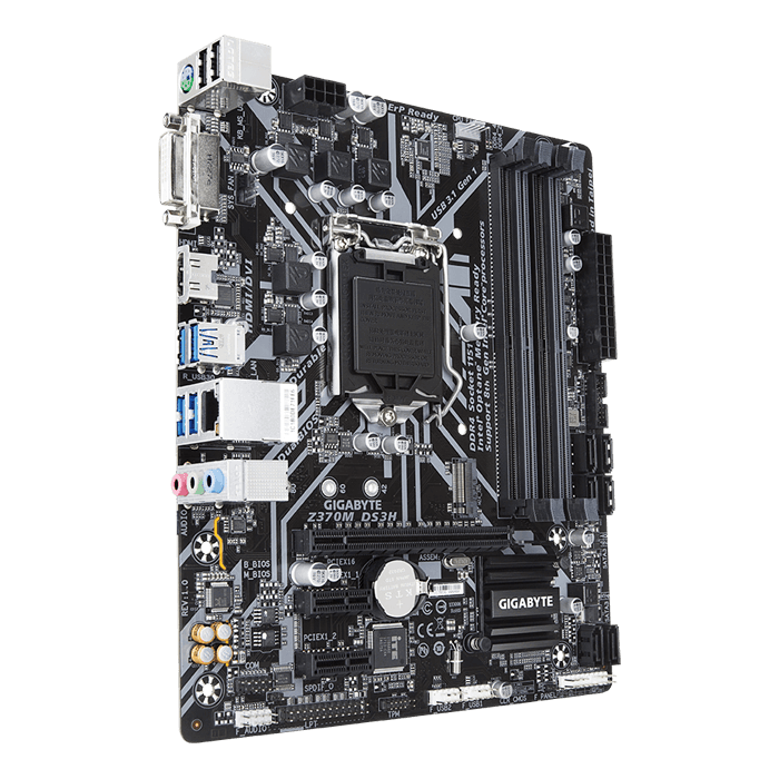 Z370M DS3H, Intel Z370 Chipset, LGA 1151, HDMI, microATX Motherboard