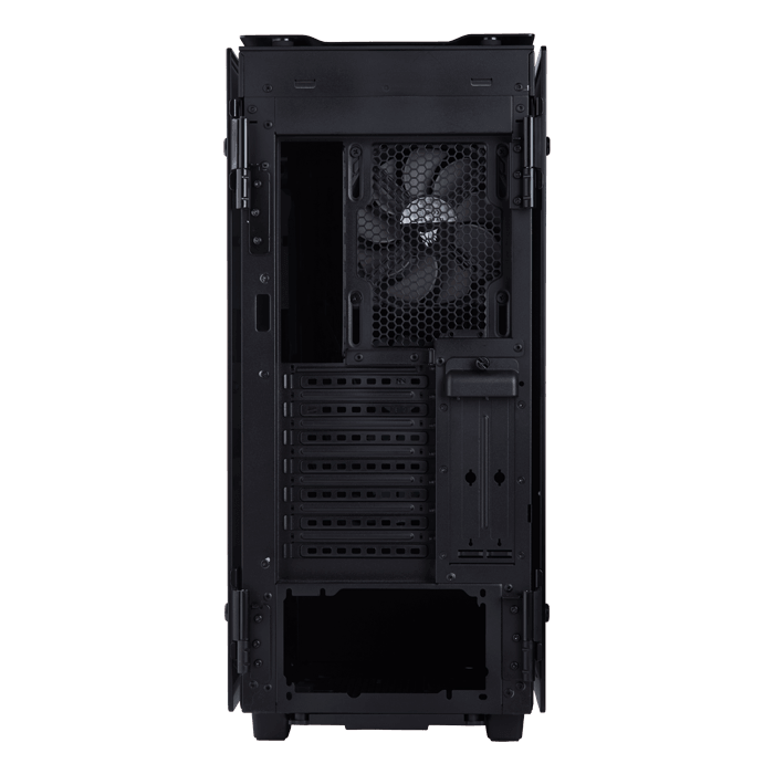 Obsidian Series 500D Premium Tempered Glass, No PSU, E-ATX, Black, Mid Tower Case