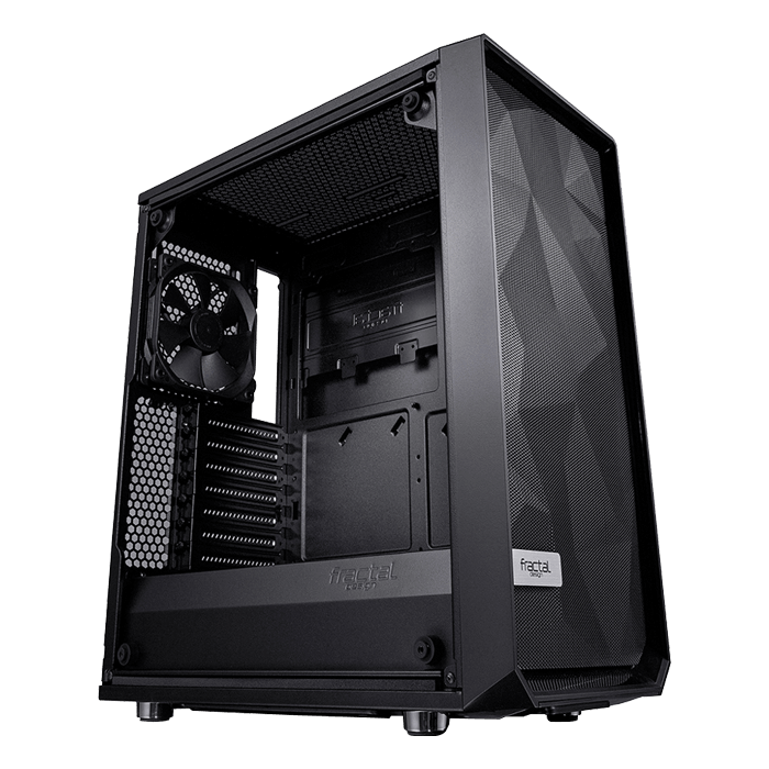 Meshify C - TG Tempered Glass, No PSU, ATX, Black, Mid Tower Case