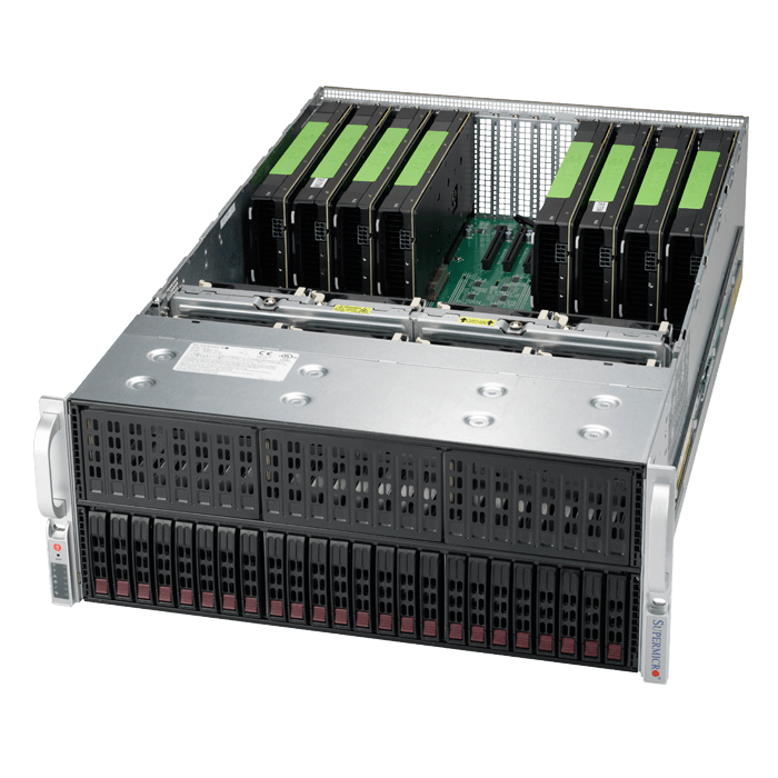 SuperServer 4029GP-TRT, 4U, Intel C622, 24x SAS/SATA, 24x DDR4, Dual 10Gb Ethernet, 2000W Rdt PSU