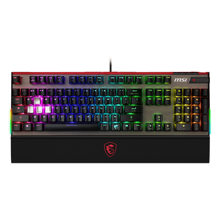 Vigor GK80 Red, Cherry MX RGB Red Switches, Wired USB, Black, Mechanical Gaming Keyboard