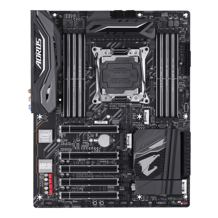 X299 AORUS Ultra Gaming Pro, Intel X299 Chipset, LGA 2066, ATX Motherboard