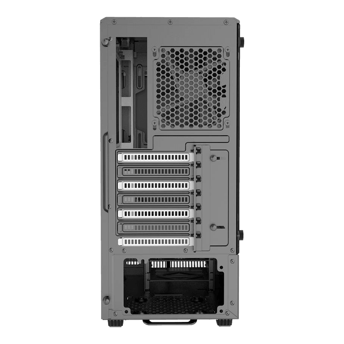 Eclipse Series P300 Tempered Glass, No PSU, E-ATX, Black/White, Mid Tower Case