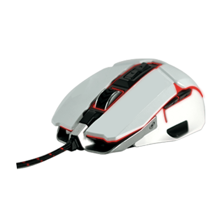 Aurox White Limited Edition, RGB LED, 10000dpi, Wired USB, Optical Gaming Mouse