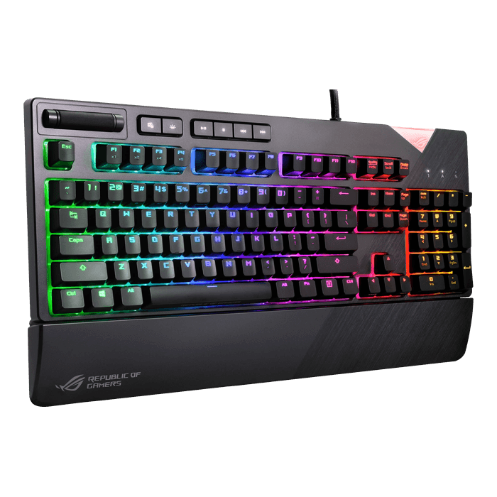 ROG Strix Flare, RGB LED, Cherry MX Brown, Wired USB, Steel Grey, Mechanical Gaming Keyboard