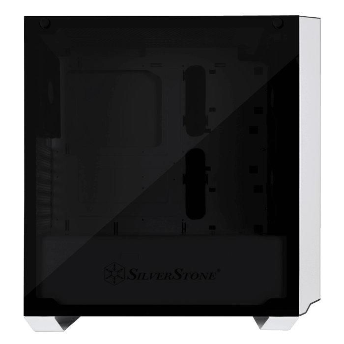 Primera Series SST-PM02W-G Tempered Glass, No PSU, ATX, White, Mid Tower Case