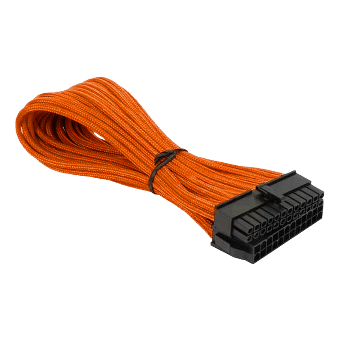 Orange Alchemy Multisleeved 24-Pin ATX Extension Cable, 30cm