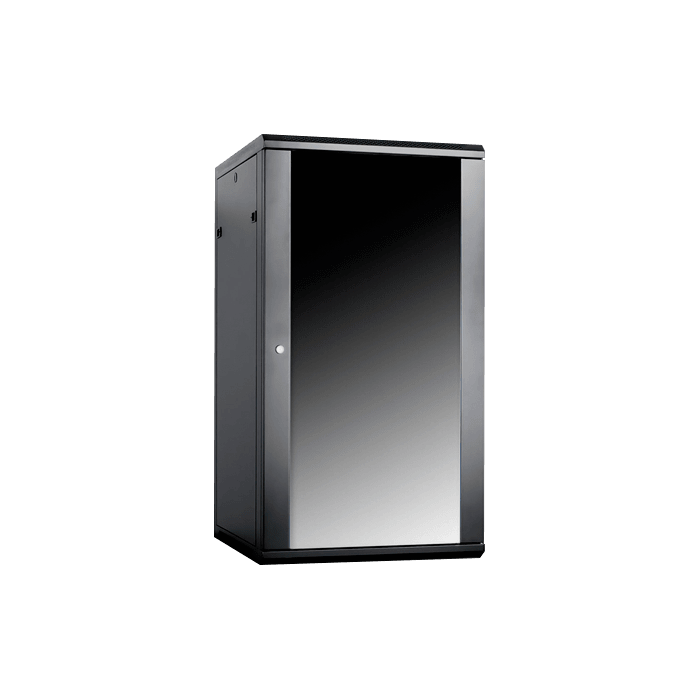 WM2260-P2UMT, 22U, 600mm Depth, Wallmount Server Cabinet with 2U Metallic White Board Panel