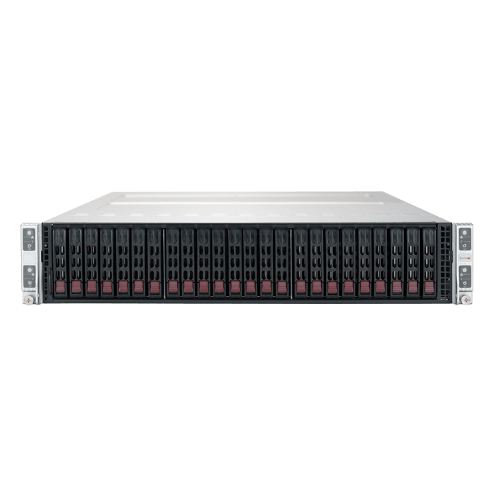 SuperServer 2029TP-HC0R, 2U Twin2, Intel C621, 24x SAS, 64x DDR4, 2200W Rdt PSU